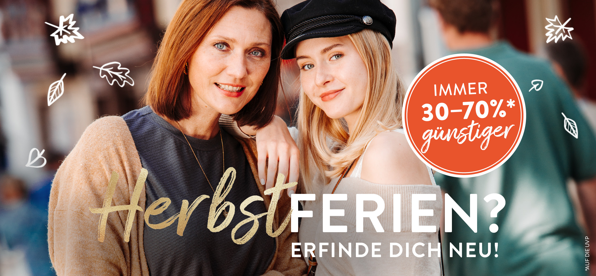 Herbstferien Shopping im Outlet